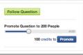 Sada samo ako imate Credits možete postaviti pitanje na Quora
