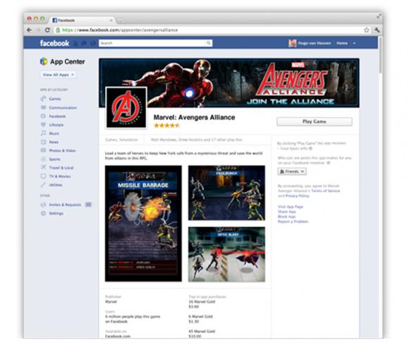 facebook app center aplikacija