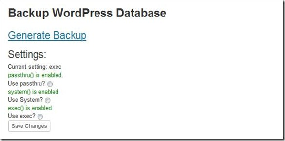 wordpress-sql-backup