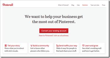 pinterest za poslovanja