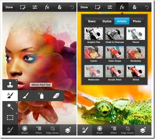 Adobe Photoshop Touch aplikacija za iphone i android telefone