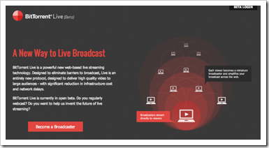 BitTorrent Live streaming servis