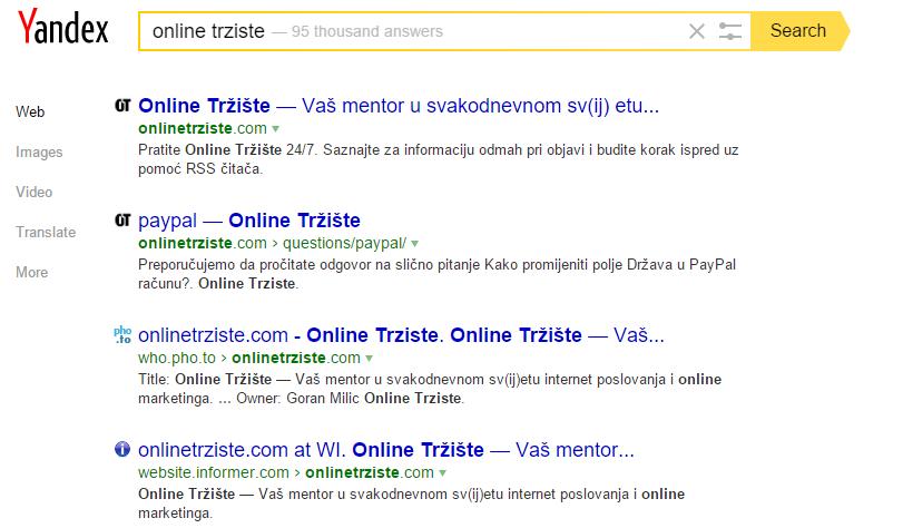 online trziste yandex