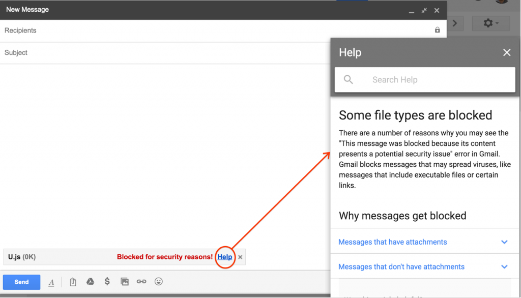 Gmail zabranio slanje javascript datoteka