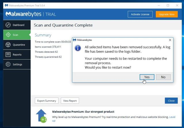 Malwarebytes-Removing-Virus